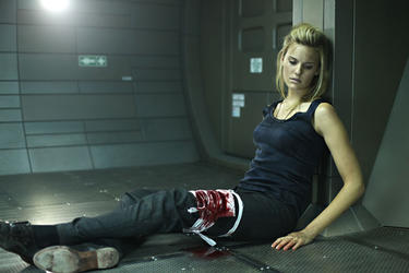 Maggie Grace as Emilie Warnock in &quot;Lockout.&quot;