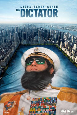 "Poster art for ""The Dictator."""