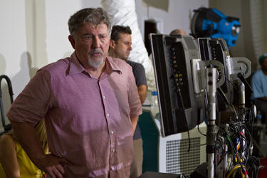 Director Walter Hill on the set of &quot;Bullet To The Head.&quot;