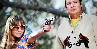 Tara Lynne Barr and Joel Murray in &quot;God Bless America.&quot;