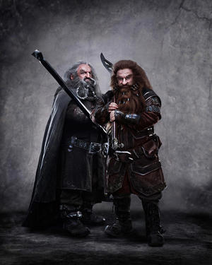 "John Callen as Oin and Peter Hambleton as Gloin in ""The Hobbit: An Unexpected Journey."""