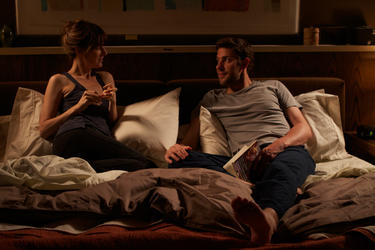 Rosemarie DeWitt and John Krasinski in &quot;Nobody Walks.&quot;