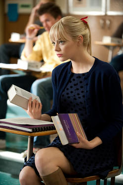 "Emma Stone in ""The Amazing Spider-Man."""