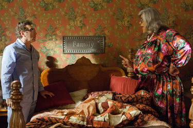 Eugene Levy as George Needleman and Tyler Perry as Madea in &quot;Tyler Perry&#39;s Madea&#39;s Witness Protection.&quot;