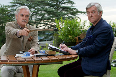 Billy Connolly and Tom Courtenay in &quot;Quartet.&quot;