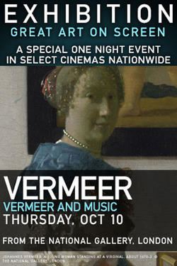 "Poster art for ""Exhibition: Vermeer and Music: The Art of Love and Leisure."""