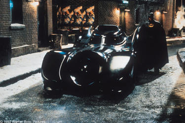 "A scene from the film ""Batman Returns."""
