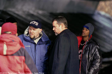 Writer/director Joe Carnahan and Ray Liotta on the set of &quot;Narc.&quot;