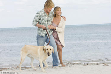 Owen Wilson as John and Jennifer Aniston as Jenny in &quot;Marley &amp; Me.&quot;