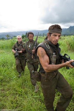 Jack Black, Robert Downey Jr. and Ben Stiller in &quot;Tropic Thunder.&quot;