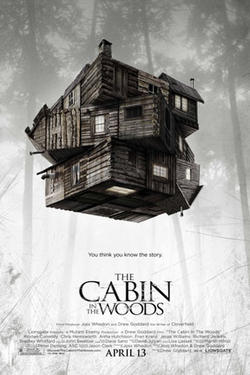 "Poster art for ""The Cabin in the Woods."""