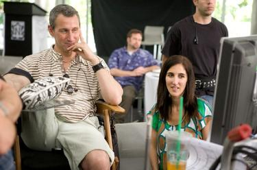 Adam Shankman and Jennifer Gibgot in &quot;Bedtime Stories.&quot;