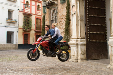 "Tom Cruise as Roy and Cameron Diaz as June in ""Knight and Day."""