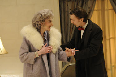 Marian Seldes as Vivian and Paul Dano as Louis in &quot;The Extra Man.&quot;