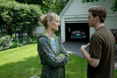 "Laura Dern as Aunt Teresa and Jon Foster as Eric in ""Tenderness."""