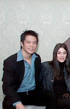 "Byron Mann and Stacy Oversier at the promotion of ""Invincible."""