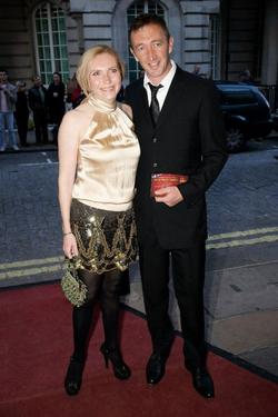"Ralph Ineson and Guest at the premiere of ""Is Anybody There?"""