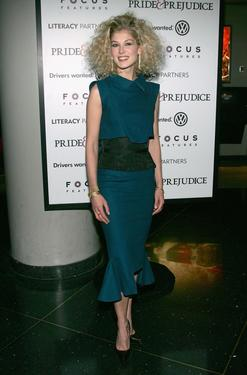 "Rosamund Pike at the premiere of ""Pride & Prejudice."""