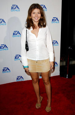 "Jewel Staite at the ""EA Games,"" launching three new video games, ""Harry Potter And The Chamber of Secrets"", ""James Bond 007...Nightlife"" and ""The Lord of the Rings, The Two Towers"" in California."