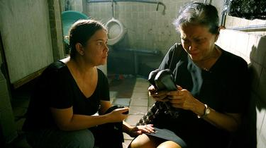 "Jaclyn Jose as Nayda and Gina Pareno as Nanay Flor in ""Serbis."""