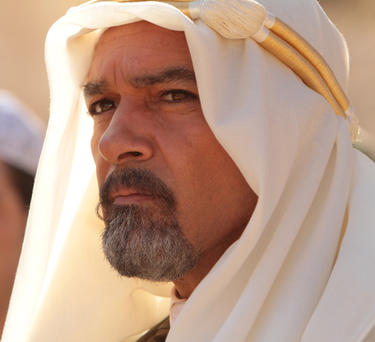 "Antonio Banderas as Emir Nesib in ""Day of the Falcon."""