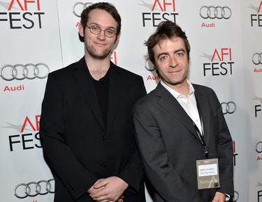 "Producers John Kaulakis and Derek Waters at the California premiere of ""Holy Motors"" during the 2012 AFI Fest."