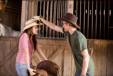 "Miley Cyrus and Lucas Till in ""Hannah Montana: The Movie."""