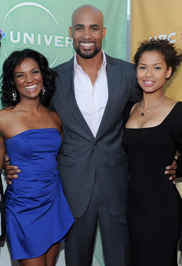 Mekia Cox, Boris Kodjoe and Gugu Mbatha-Raw at the 2010 TCA Summer party in California.