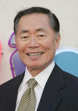 "George Takei at the celebration for the wrap of season one for NBC's ""Heroes."""