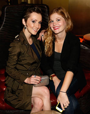 "Erica Linz and Rachel Sussman at the Las Vegas premiere of ""Cirque du Soleil: Worlds Away."""