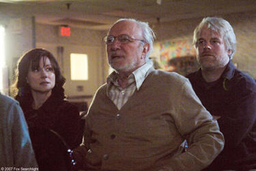 "Laura Linney, Philip Bosco and Philip Seymour Hoffman in ""The Savages."""
