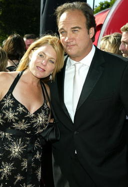 James Belushi and Jennifer Sloan at the 56th Annual Primetime Emmy Awards.