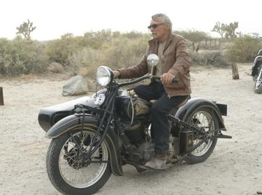 "Dennis Hopper in ""Hell Ride."""