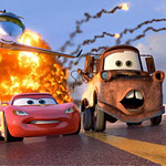 Lightning McQueen (Owen Wilson) and Mater (Larry the Cable Guy) return for Cars 2.
