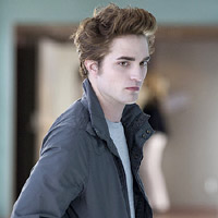 Robert Pattinson stars as vampire Edward Cullen in Twilight.