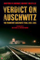 "Poster art for ""Verdict on Auschwitz: The Frankfurt Trial."""