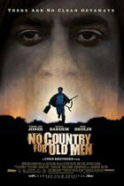 "Poster art for ""No Country for Old Men."""