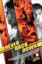 "Poster art for ""Never Back Down."""