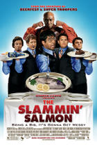 "Poster art for ""The Slammin' Salmon."""