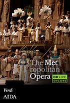 "Poster art for ""The Metropolitan Opera: Aida Encore."""
