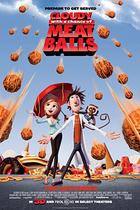 "Poster art for ""Cloudy with a Chance of Meatballs 3-D."""