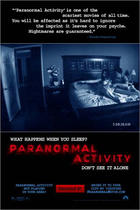 "Poster art for ""Paranormal Activity."""