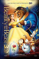 "Poster art for ""Beauty and the Beast 3D."""