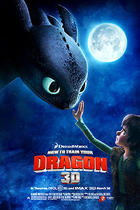 "Poster art for ""How to Train Your Dragon 3D."""