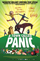 "Poster art for ""A Town Called Panic."""