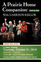 "Poster art for ""A Prairie Home Companion with Garrison Keillor LIVE."""