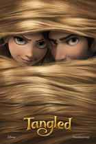 "Poster art for ""Tangled."""