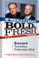 "Poster art for ""Bold and Fresh Tour: O'Reilly and Beck Encore."""