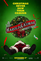 "Poster art for ""A Very Harold and Kumar 3D Christmas."""