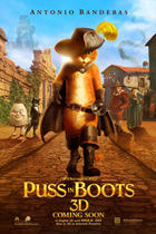 "Poster art for ""Puss in Boots."""